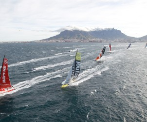 Course au large - November 19, 2014. The Start of Leg 2 from Cape Town to Abu Dhabi.