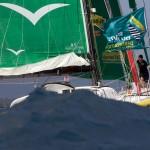 Louis Burton (Bureau Vallee) 5eme de la categorie Imoca sur la Route du Rhum-Destination Guadeloupe 2014 - Pointe a Pitre le 14/11/2014