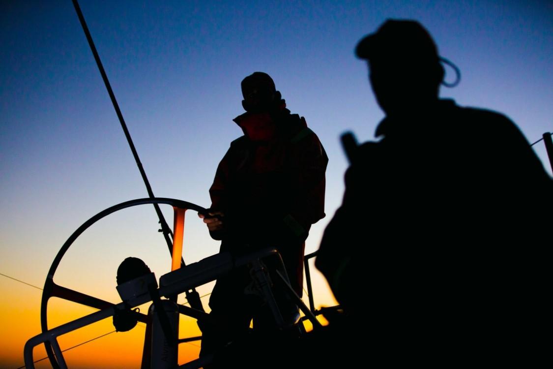 2014-15, Leg5, OBR, ONBOARD, TEAM ALVIMEDICA, VOR, Volvo Ocean Race, Stu Bannatyne, silhouette, sunset