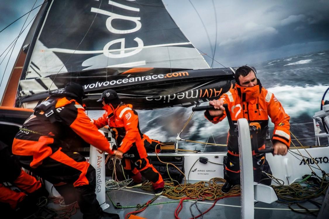2014-15, Leg5, OBR, ONBOARD, TEAM ALVIMEDICA, VOR, Volvo Ocean Race, GoPro, Charlie Enright, grind