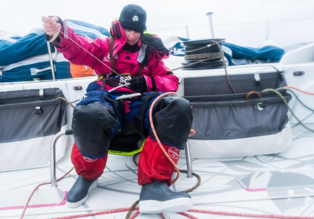 2014-15, Leg5, OBR, Team SCA, VOR, Volvo Ocean Race, onboard, fix, sew, sheet, Stacey Jackson