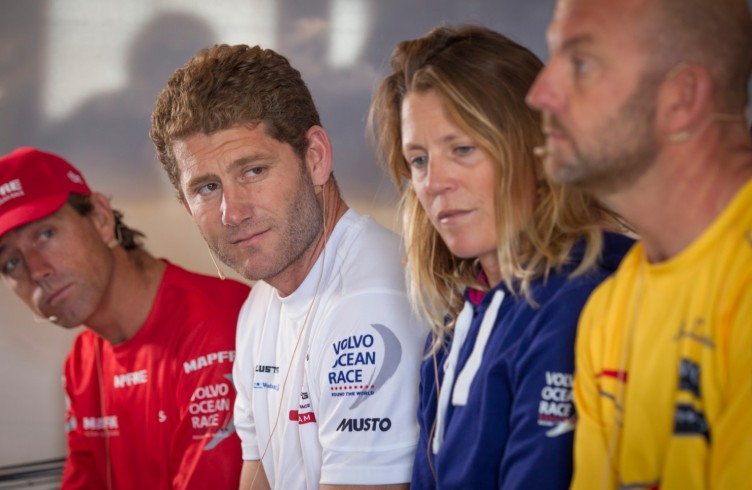 2014-15, Media Center, Newport, USA, Volvo Ocean Race, press conference, skippers