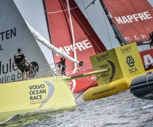 2014-15, VOR, Volvo Ocean Race, Inport, Lorient, buoy, Team Brunel, MAPFRE