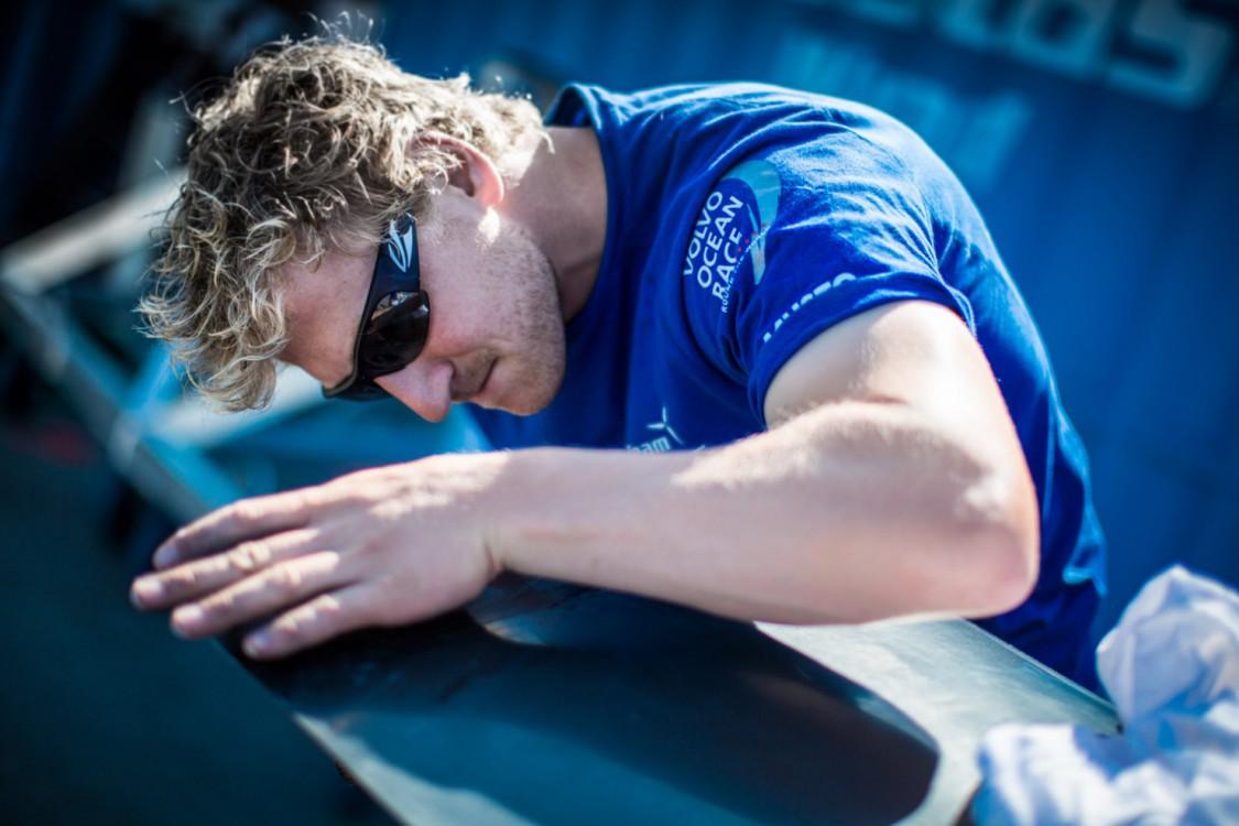 Volvo Ocean Race, VOR, 2014-15, Team Vestas Wind, back, lisbon, boatyard, Peter Wibroe