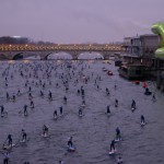 Canal Plus, Caterine&Lilliane, Le petit Journa, Nautic2015, Raoul Dobremel, SUP Crossing Paris