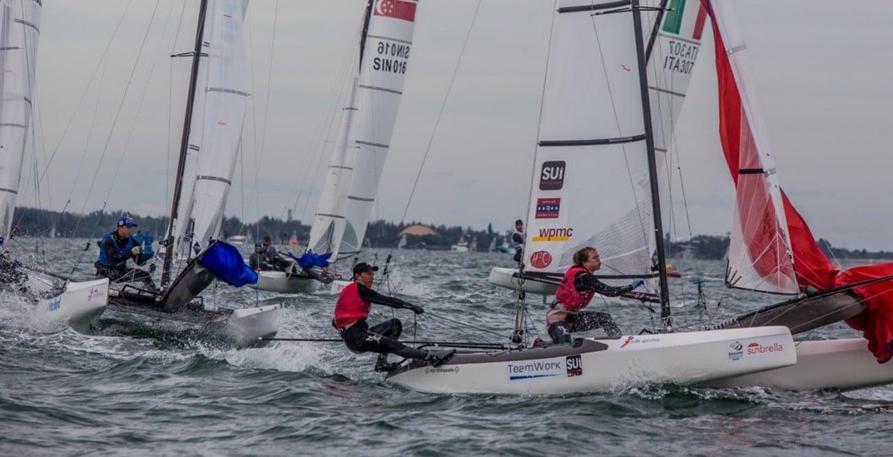 2016, Nacra 17, Olympic Sailing, Sailing World Cup, Sea, SUI 220 Matias Buhler Matias SUIMB18 Nathalie Brugger SUINB1, World Sailing, WSC Miami 2016
