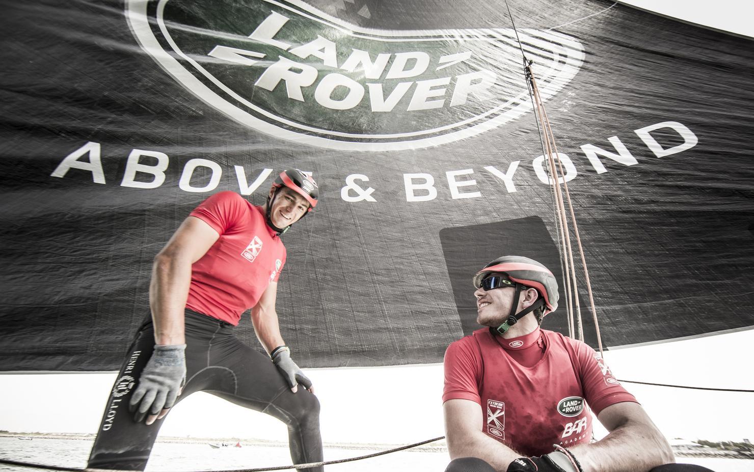 GC32, Foiling Catamaran, Muscat, Oman, The Extreme Sailing Series, Bleddyn Mon, Land Rover BAR Academy