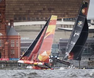 The Extreme Sailing Series 2016, Multihull, GC32, Cardiff, Act3, Foiling Catamaran
