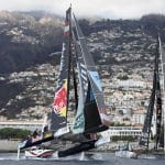 The Extreme Sailing Series 2016, Multihull, Foiling, Catamaran, GC32, Sailing, Racing, Day3, Alinghi, Crash