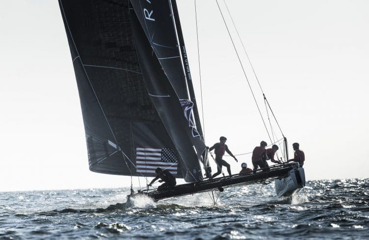 The Extreme Sailing Series 2016, Multihull, Foiling, Catamaran, GC32, Sailing, Racing, Lisbon, Day4