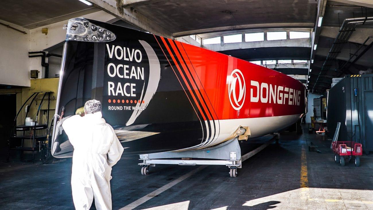 Boatyard, Dongfeng, Lisbon, PRE-RACE, Portugal, Prerace, The boatyard, boat 1, painting, pre race, refit
