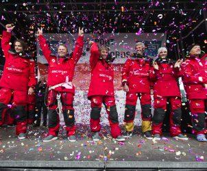 record, tour du monde, circumnavigation, équipage, crew, Brest, trimaran, multicoque, multihull janvier, hiver