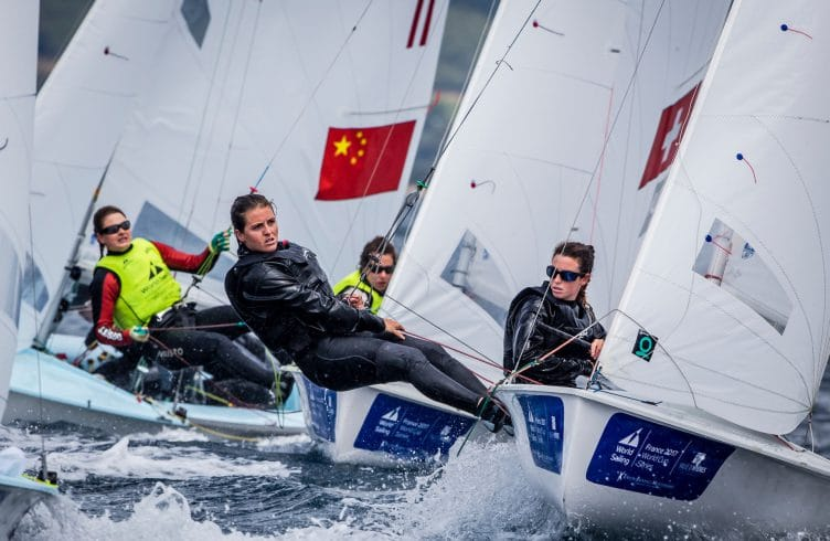 2017 World Cup Series Hyères, 470 Women, Classes, ESP 14 Bàrbara Cornudella Ravetllat ESPBC5 Sara López Ravetllat ESPSL6, Jesus Renedo, Olympic Sailing, Sailing Energy, World Cup Series Hyères 2017, World Sailing