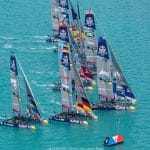 2017, 35th America's Cup Bermuda 2017, AC35, Sailing, Bermuda, Aeriall, RD2, Day2, fleet
