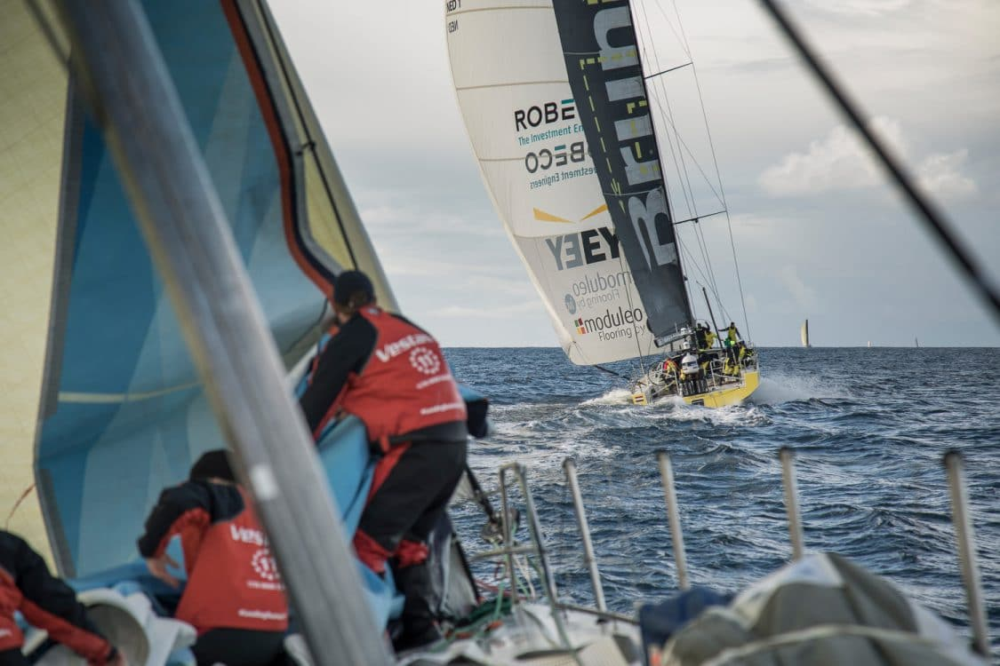 2017-18, Fastnet Rock, Kind of picture, Leg Zero, On board, On-board, Pre-race, Rolex Fastnet Race, Team Brunel, Vestas 11th Hour Racing, boat to boat
