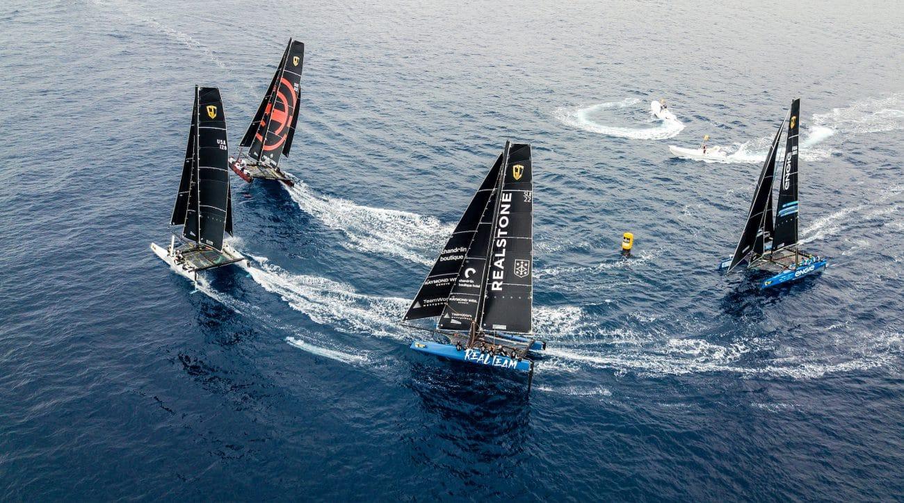 ARMING STORM RACING TEAM, Extreme sailing, Fastest boats, GC32, GC32 Racing Tour, GC32 VILLASIMIUS CUP, REALTEAM, Sardinia, TEAM ARGO, TEAM ENGIE, Villasimius, catamaran, foiling, foiling catamaran, one design yacht, sailing, speed, yachting, Armin Strom Sailing Team