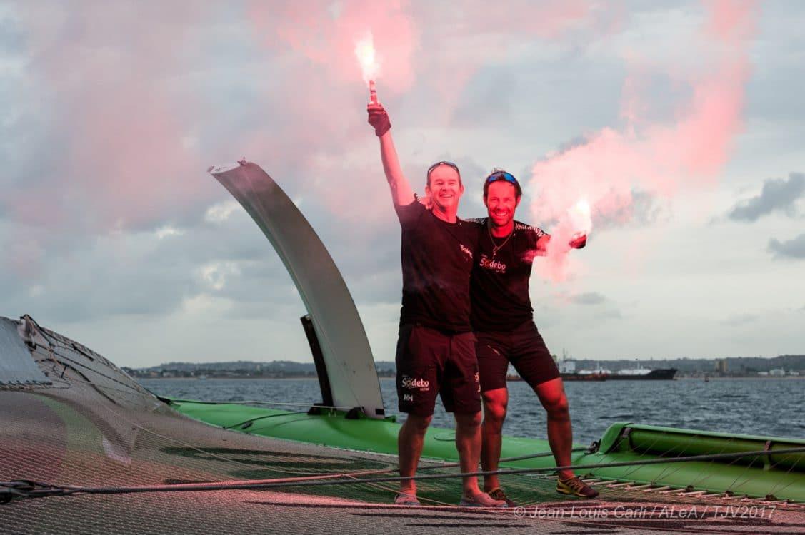 ambiances, novembre, arrivée, sailing, voile, champagne, multihull, multicoque, vainqueur