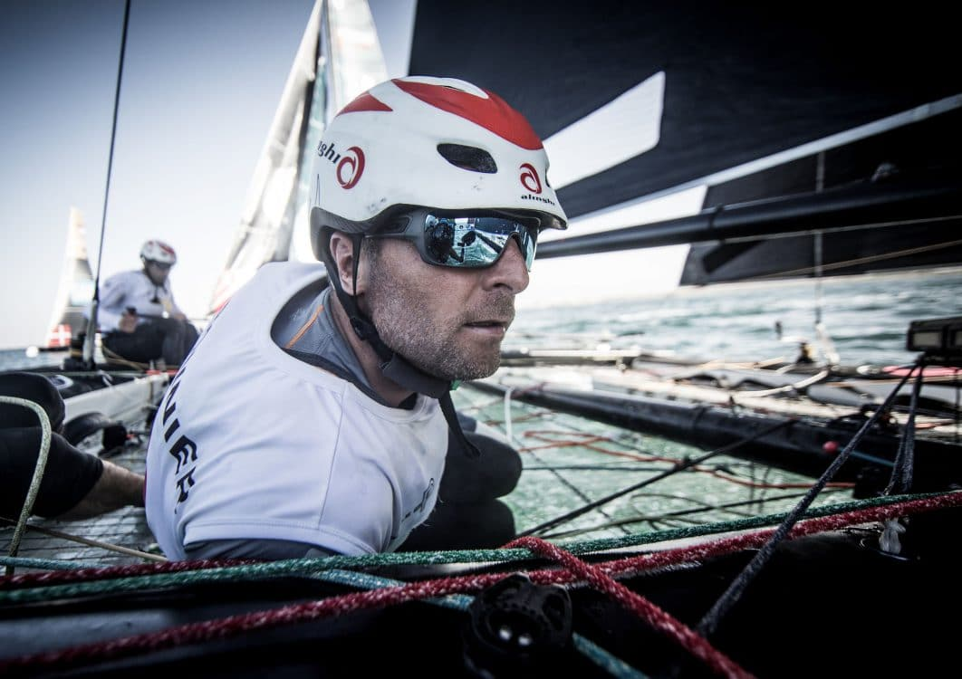 Water Sport, Sailing, The Extreme Sailing Series, ESS, Oman Air, Muscat, Oman, GC32, flying phantoms, racing, day 2