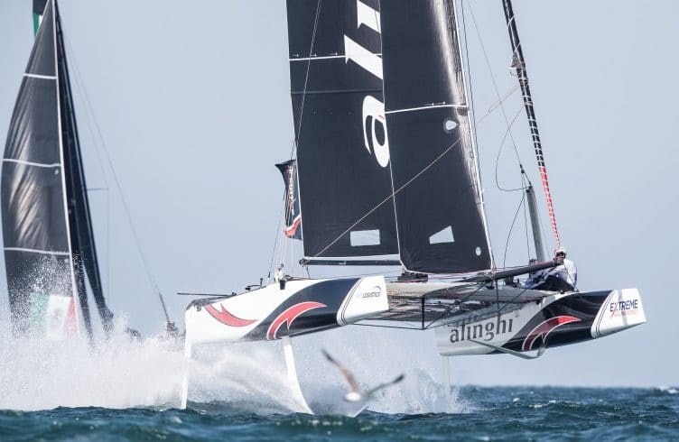 Water Sport, Sailing, The extreme sailing Series, ESS, Oman sail, Muscat, Oman, GC32, finals day, finish