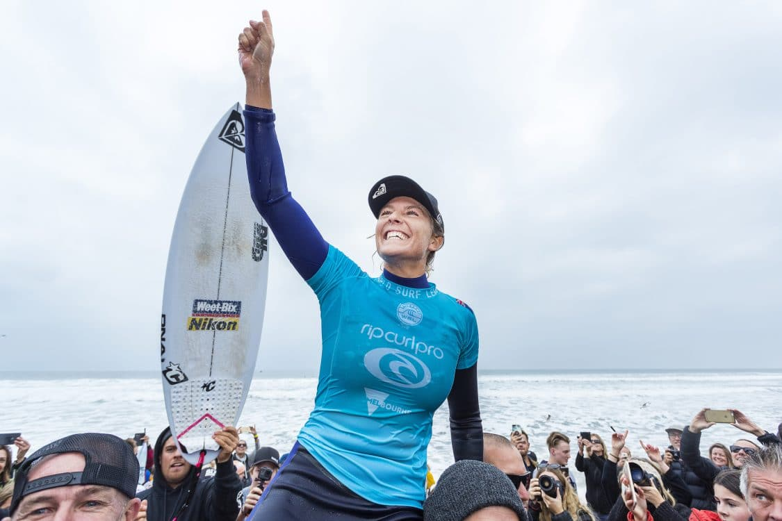 2018, 2018 Championship Tour, Bells Beach, CT, Championship Tour, Surf, Surfing, Torquay, WSL, World Surf League, World Champion, Celebration, Women, Stephanie Gilmore