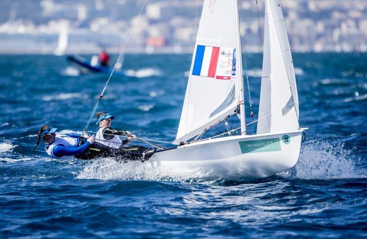 2018, 470 Women, FRA 28 470 Women FRA-9 Camille LECOINTRE Aloise RETORNAZ, Mallorca, Olympic sailing, Trofeo Princesa Sofia Iberostar