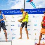 CLASSES, FRA 1 Louis Giard (M) RS:X Men, FRA 3 Thomas Goyard (M) RS:X Men, FRA 77 Pierre Le Coq (M) RS:X Men, FRANCE, Olympic Sailing, RSX MEN, Sailing Energy, World Cup Series Hyeres, World Sailing
