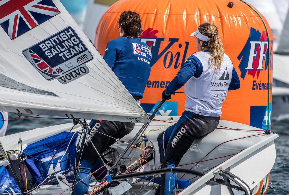 470 W, CLASSES, GBR 1 13 Hannah Mills (W) Eilidh McIntyre 470 Women, Olympic Sailing, Sailing Energy, World Cup Series Hyeres, World Sailing