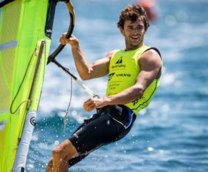 4 FRA 77 Pierre Le Coq (M) RS:X Men, FRANCE, Olympic Sailing, RSX MEN, Sailing Energy, World Cup Series Marseille, World Sailing